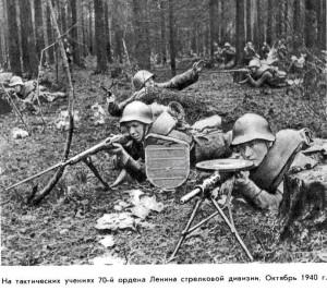 70-я сд РККА на учениях. Октябрь 1940 г.