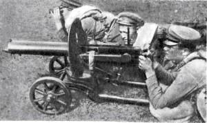 Расчёт пулемёта Максим. 1932 год.