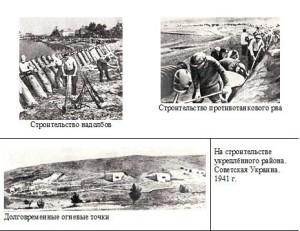 Строительство укреплённого района. СССР. 1941 г.
